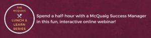 Join our free Lunch & Learn webinars!